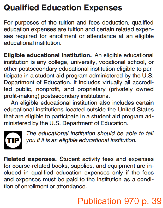 a paper on student expenses for education Qualified student: if you paid qualified education expenses for an eligible student, including yourself, your spouse, or your dependent that you claim on your tax return, you can claim those .