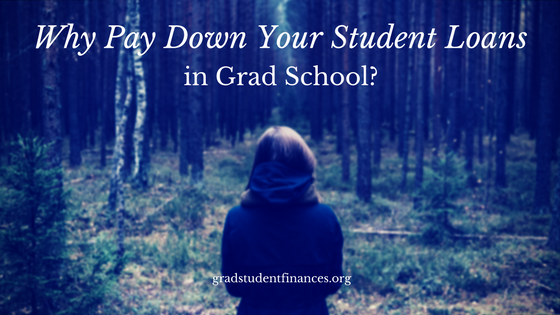 Why Pay Down Your Student Loans in Grad School? - Personal