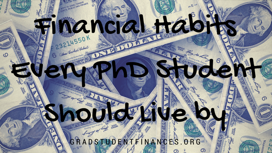 financial habits PhD student