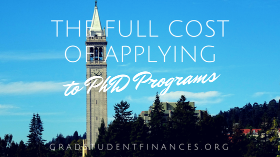 cost of applying to PhD programs