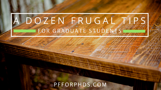 frugal tips for graduate students