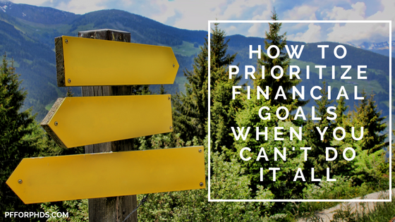 prioritize financial goals