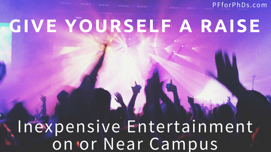 inexpensive entertainment campus