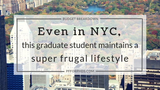 NYC frugal grad student