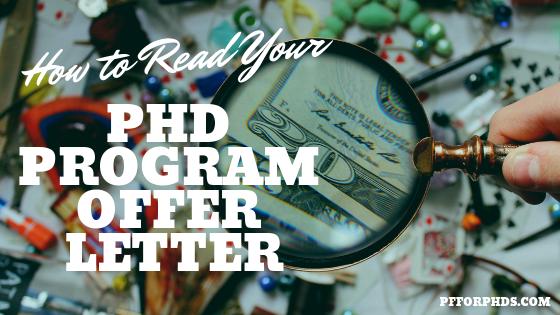 PhD offer letter