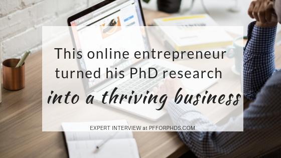 PhD online entrepreneur