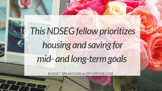 NDSEG fellow budget goals